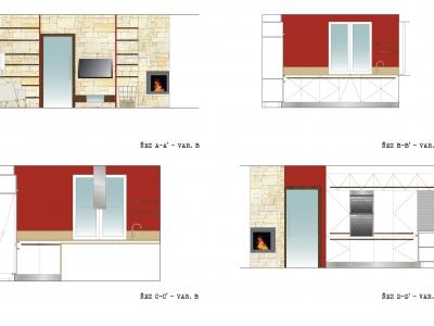 ukázka návrhu tvarového, materiálového a barevného řešení