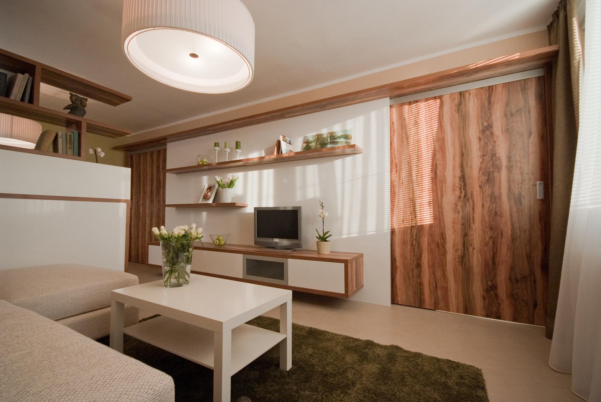 jak se staví sen - obývací pokoj s pracovním koutem 1