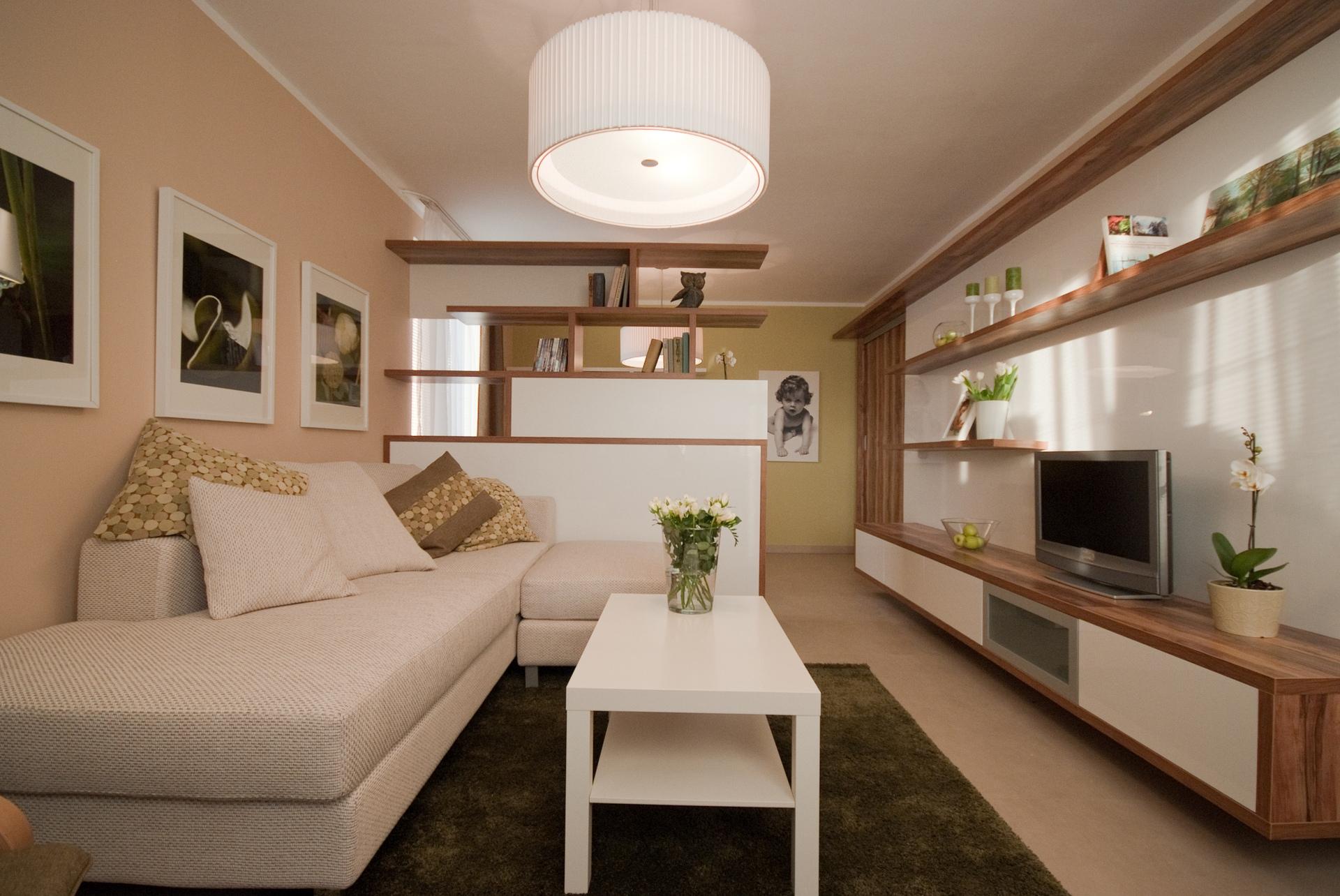 jak se staví sen - obývací pokoj s pracovním koutem 2