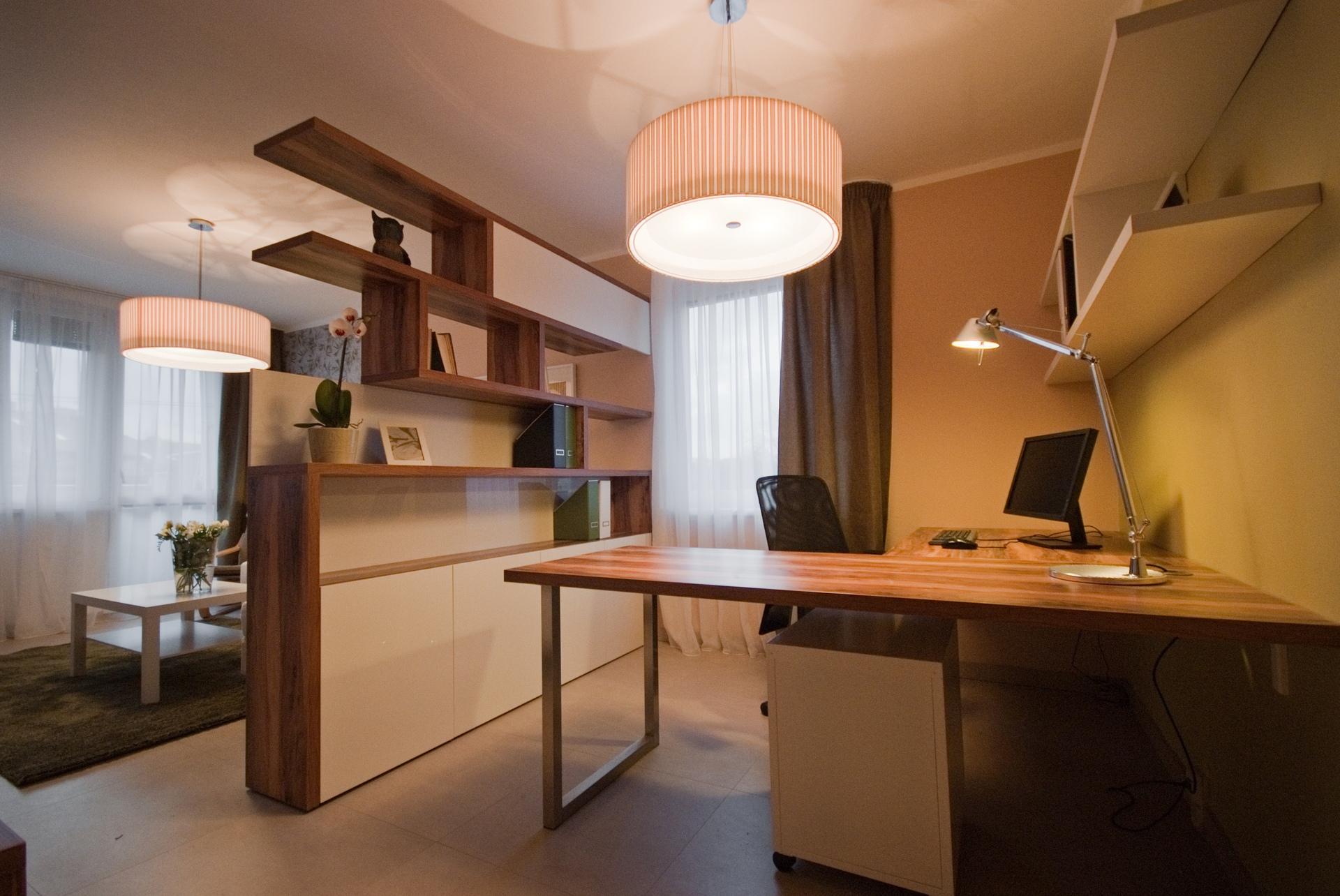 jak se staví sen - obývací pokoj s pracovním koutem 4