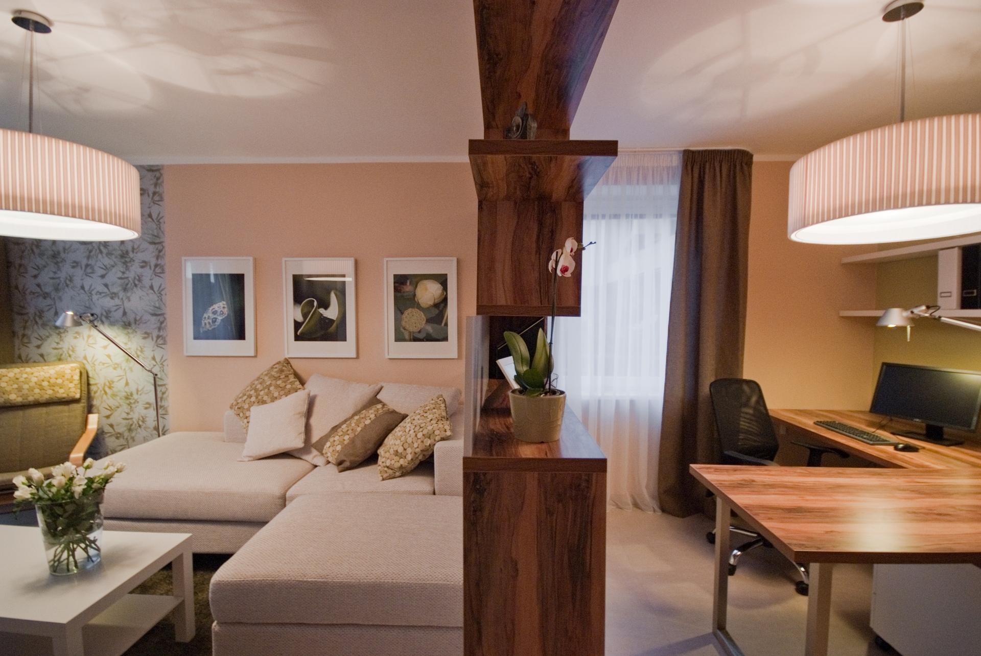 jak se staví sen - obývací pokoj s pracovním koutem 3