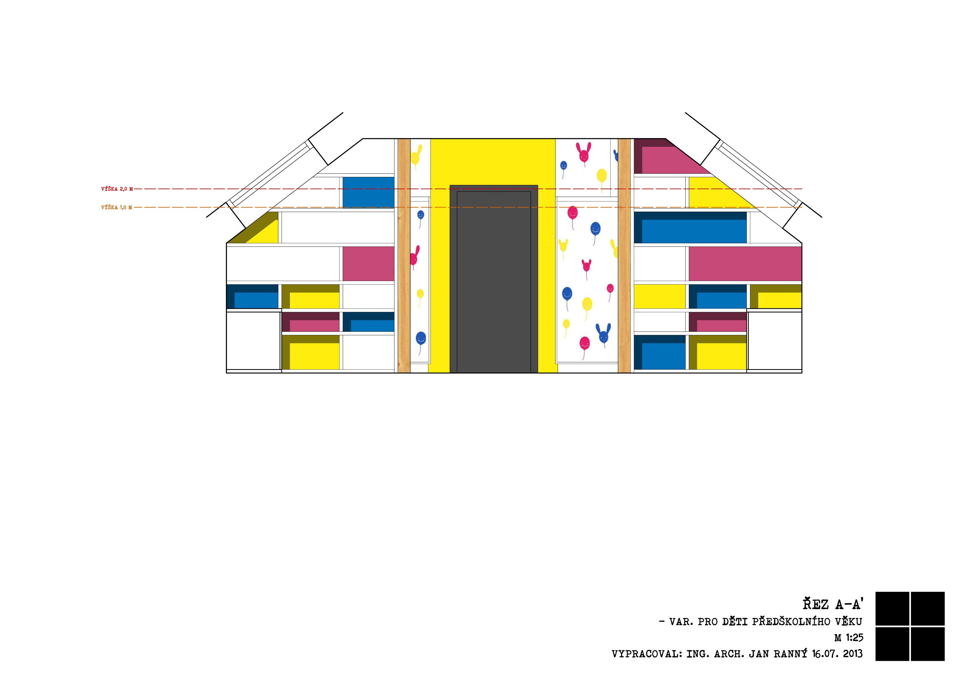 dětský pokoj Líbeznice-řez_A-A